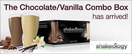 The Chocolate/Vanilla Combo Box has arrived!—Shakeology®—THE HEALTHIEST MEAL OF THE DAY®