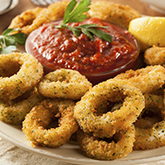 Deep Fried Onion Rings with Ketcup